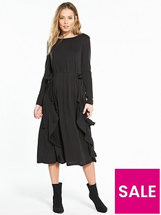 v-by-very-bow-waist-midi-dress-black