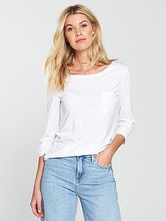 v-by-very-three-quarter-sleeve-perfect-t-shirt-white