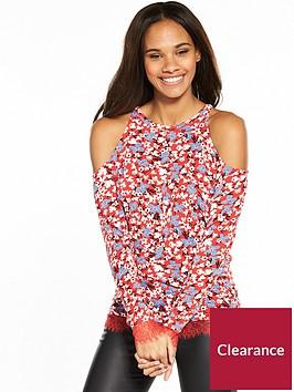 v-by-very-lace-hem-cold-shoulder-top-floral-print
