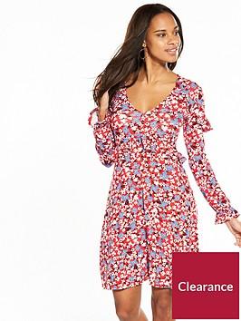 v-by-very-ruffle-drawstring-jersey-dress