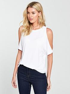 v-by-very-cupro-cold-shoulder-t-shirt-white