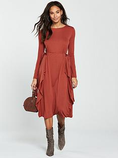 v-by-very-bow-waist-midi-dress