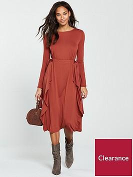 v-by-very-bow-waist-midi-dress