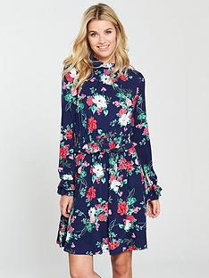 v-by-very-shirrednbspwaist-skater-dress-floral-print
