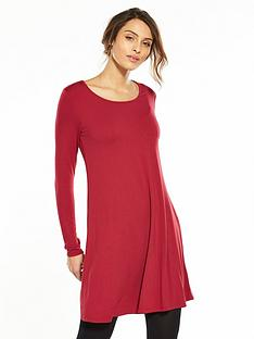 v-by-very-long-sleeve-jersey-swing-dress-red