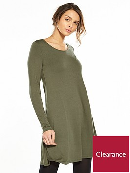 v-by-very-long-sleeve-jersey-swing-dress-khaki