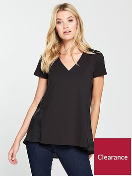 v-by-very-woven-jersey-mix-top-black