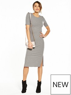 v-by-very-jersey-bodycon-side-split-dress-grey-marl