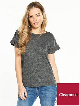v-by-very-fluted-sleeve-t-shirt-grey-marl