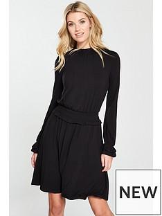 v-by-very-shirrednbspwaist-skater-dress-black