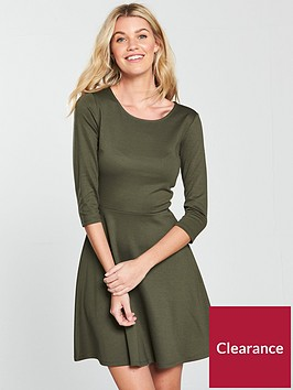 v-by-very-ponte-skater-dress-khaki