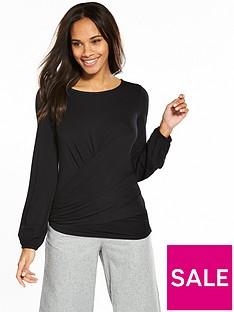 v-by-very-wrap-waist-top-black