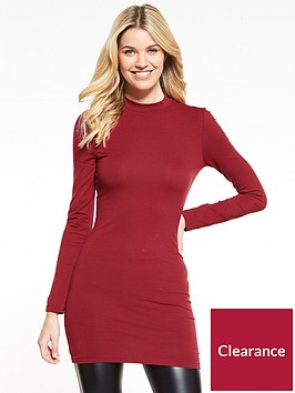 v-by-very-turtle-neck-tunic-dusty-rose