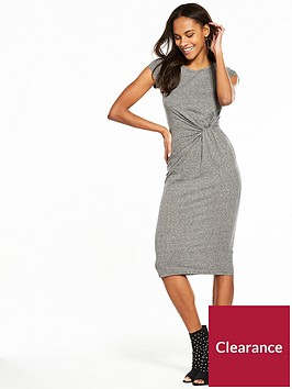 v-by-very-jersey-twist-front-midi-dress-grey-marl