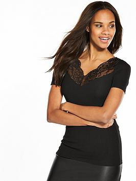 v-by-very-lace-insert-rib-top-black