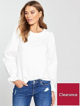 v-by-very-cotton-rounded-sleeve-top