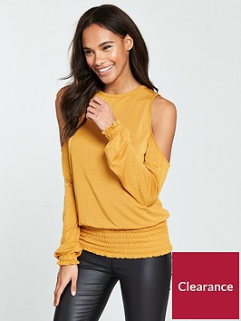 v-by-very-cupro-sheered-hem-top