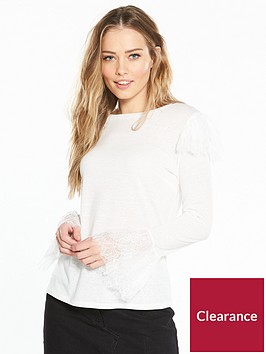 v-by-very-frill-lace-snit-top-ivory