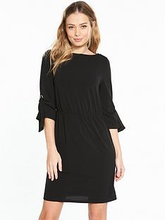 v-by-very-jersey-eyelet-sleeve-dress-black