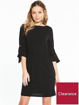 v-by-very-jersey-eyelet-sleeve-dress-black