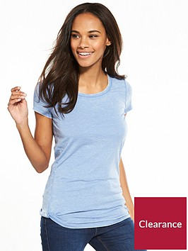 v-by-very-washed-knot-front-t-shirt