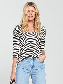 v-by-very-cross-back-oversized-t-shirt-stripe