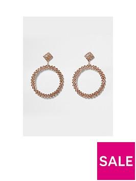 river-island-drop-hoop-earrings