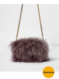 river-island-feather-bag