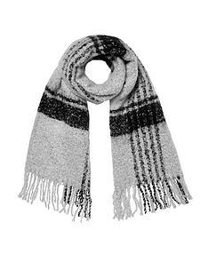 river-island-check-scarf--blackgrey