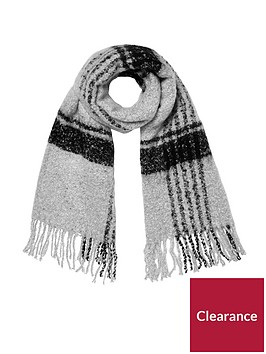 river-island-check-scarf--blackgrey