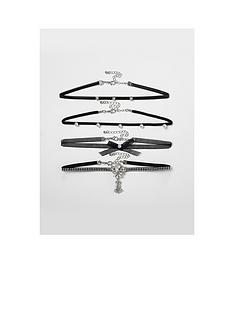 river-island-peal-multi-chocker