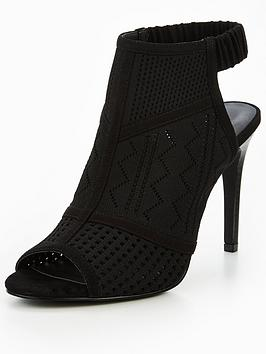 V By Very Alexis Knitted Shoe Boot - Black