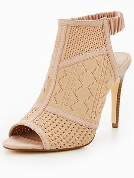 V By Very Alexis Knitted Shoe Boot - Nude