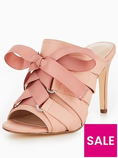v-by-very-khloe-lace-up-bow-mule-blush