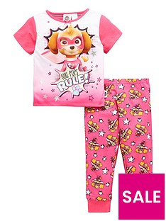 paw-patrol-girls-short-sleeve-pyjamas