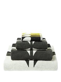 orla-kiely-house-large-stem-pack-of-2-hand-towels-ndash-dark-duck-egg
