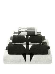 orla-kiely-house-large-stem-pack-of-2-hand-towels-ndash-grey