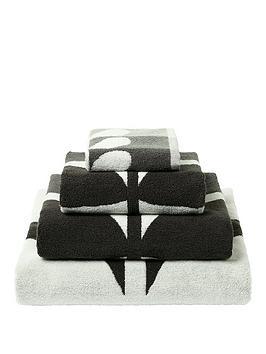 orla-kiely-house-large-stem-towel-range-grey