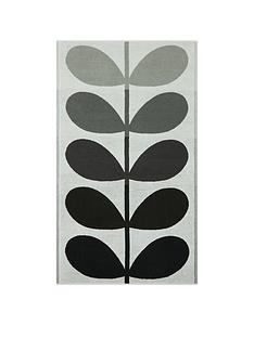orla-kiely-house-large-stem-pack-of-2-bath-towels-ndash-grey