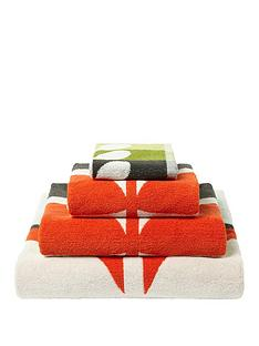 orla-kiely-house-large-stem-pack-of-2-face-cloths-ndash-tomato