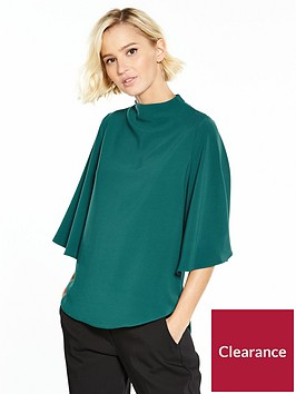 river-island-cape-sleeve-top