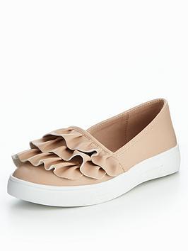 V By Very Dolly Frill Skate Shoe - Nude