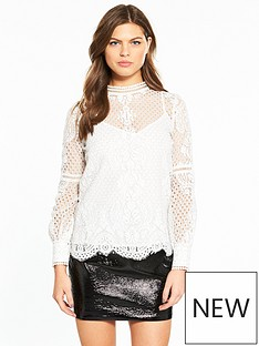 river-island-high-neck-lace-top--white
