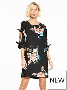 river-island-printed-bow-sleeve-dress