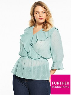 v-by-very-curve-dobby-wrap-ruffle-blouse-mint