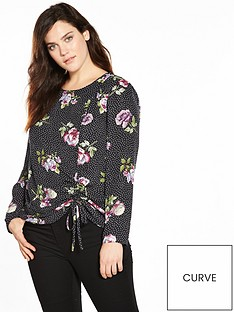v-by-very-curve-ruched-detail-blouse