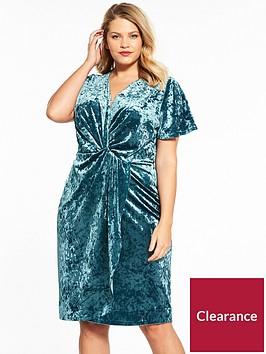 v-by-very-curve-velvet-knot-dress