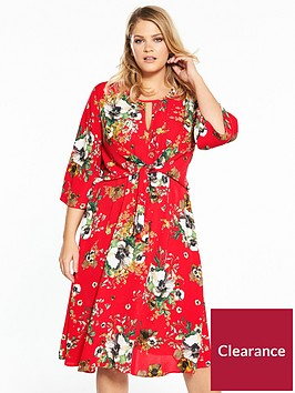 v-by-very-curve-printed-knot-dress-printnbsp