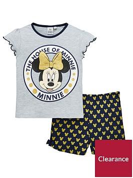 minnie-mouse-minnie-mouse-girls-shorty-glitter-pyjamas