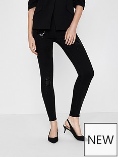 river-island-black-sequin-jeans